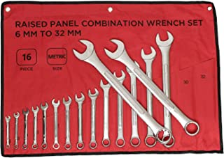 ABN Raised Panel Combination Wrench Set Metric Wrench Set Metric Wrenches Set 6mm-32mm 16pc Combination Wrenches Set