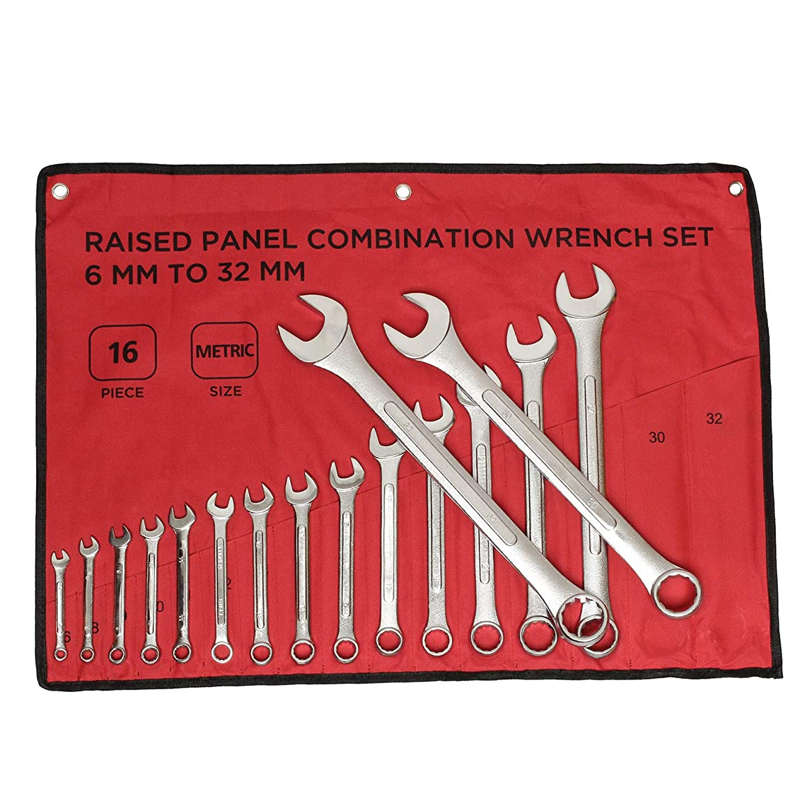 少数リスシロクマABN?   Raised Panel Combination Wrench Set Metric Wrench Set Metric Wrenches Set 6mm-32mm 16pc Combination Wrenches Set
