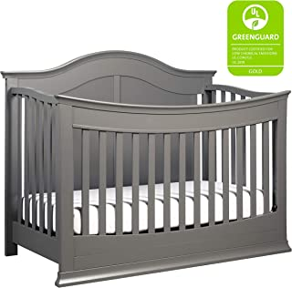 DaVinci Meadow 4-in-1 Convertible Crib with Toddler Bed Conversion Kit, Slate