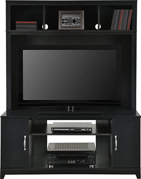 Home TV Stands Wood Entertainment Media Center For Flat Console Screens With Storage Wall Unit T V Furniture Set