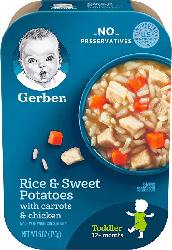 Gerber Graduates Lil Meals Rice Sweet Potato Carrot And Chicken 6 Ounce 6 Count