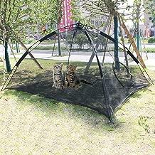 Hi Suyi Portable Large Pop Up Pet Cat Tents Enclosures for Outside Patio