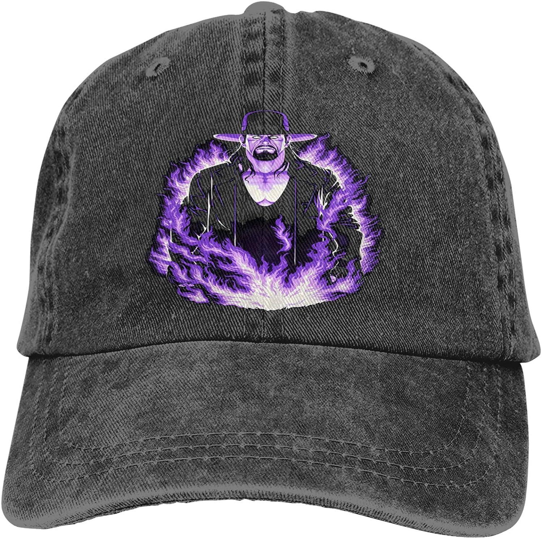 Zhengyu The Undertaker Cowboy Hat Adjustable Baseball Cap Youth Retro Sports Cowboy Hat Unisex Black