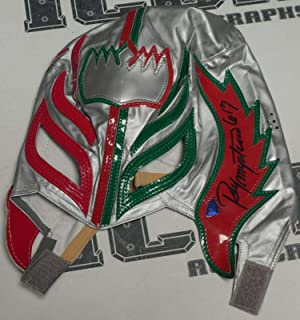 Rey Mysterio Signed Mask COA WWE Wrestling Lucha Libre Underground BLEM - PSA/DNA Certified - Autographed Wrestling Cards