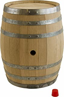 North Mountain Supply Unused American Oak Barrel 5 Gallon Medium Char - with Silicone Bung
