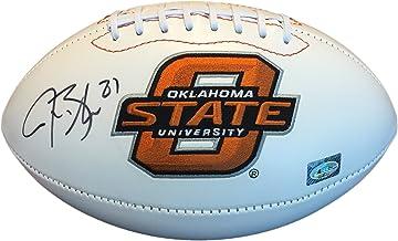 Justin Blackmon Autographed Rawlings Football - Oklahoma State University