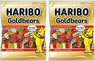 FOOD LIBRARY THE MAGIC OF NATURE Haribo Gold Bears, 140g - (Pack of 2)