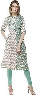 Multi Designer Women Straight Multi Design Printed Kurti for Women Tunic Top