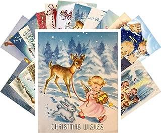 Vintage Christmas Greeting Cards 24pcs Little Angels Christmas Prayer REPRINT Postcard Pack