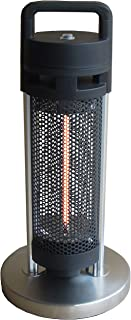 Ener-G+ HEA-20960-D1 Indoor/Outdoor Freestanding Electric Table Heater, Portable, Durable, 900 watts Water/Dust Resistant, Includes 6ft Power Cord, Safe for Kids and Pets, Black