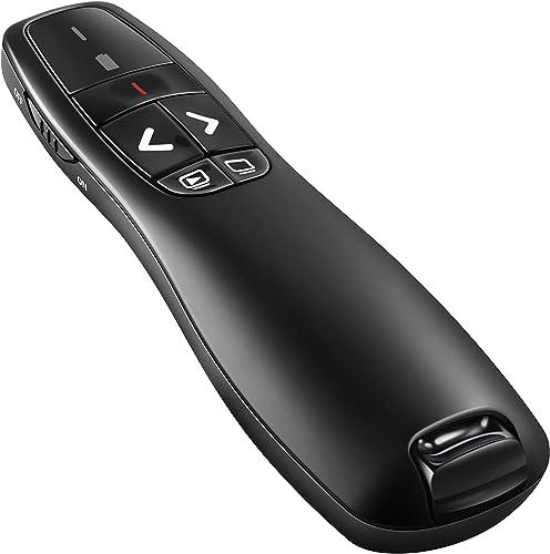 BlueBeach Wireless USB Presenter PowerPoint Remote Control Laser Pointer for PPT / Keynote / Prezi / OpenOffice / Win...