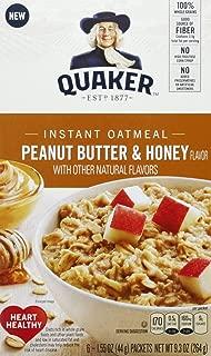 Quaker Peanut Butter & Honey 1.55oz x 6(total 9.3oz), pack of 1