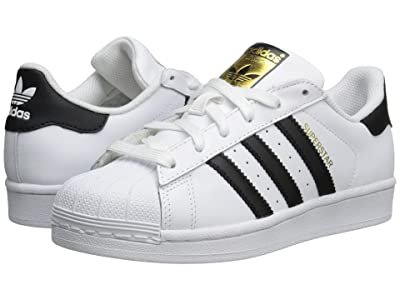 adidas Originals Kids Superstar Foundation (Big Kid) (White/Black/White) Kids Shoes