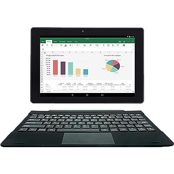 [2 Bonus Items] Simbans TangoTab 10 Inch Tablet and Keyboard 2-in-1 Laptop   2 GB RAM, 32 GB Disk, Android 9 Pie   Mini-HDMI, Micro-USB, USB-A, Inbuilt GPS, Dual WiFi, Bluetooth Computer PC