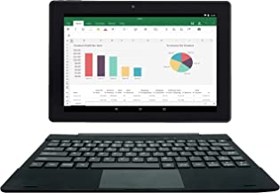[2 Bonus Item] Simbans TangoTab 10 Inch Tablet + Keyboard 2-in-1 Laptop | 2GB RAM, 32GB Disk, Android 8.1 Oreo | GPS, WiFi, USB, HDMI, Bluetooth | IPS Screen, 2+5 MP Camera Computer PC