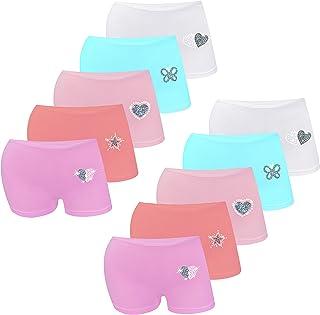 LOREZA ® Braguitas de algodón para niña - Material cómodo y Suave - con Diferentes Motivos - Pack de 10 Unidades - Modelo ...