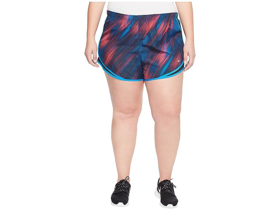 Nike Dry Tempo 3 Print Running Short (Size 1X-3X) (Racer Pink/Black/Racer Pink/Wolf Grey) Women