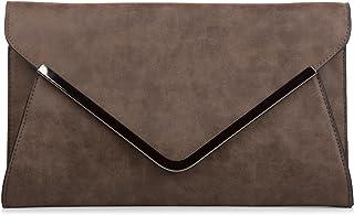 styleBREAKER Envelope Clutch, Abendtasche im Kuvert Design mit Schulterriehmen und Trageschlaufe, Damen 02012047