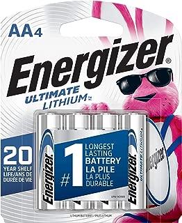 Energizer L91SBP-4 AA Batteries Ultimate Lithium (4 Count)