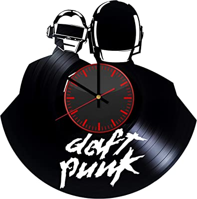 Daft Punk Electronic Music Vinyl Record Wall Clock - Unique Bedroom and Living Room Decor Great