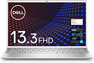 【MS Office Home&Business 2019搭載】【インテル Evo プラットフォーム】Dell モバイルノートパソコン Inspiron 13 7300 シルバー Win10/13.3FHD/Core i7-1165G7/8G...