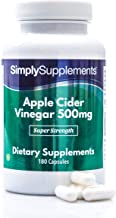 Apple Cider Vinegar Capsules 500mg Vegan Vegetarian Friendly with Added Chromium to Support Metabolism Regulate Blood Sugar 180 Capsules Up to 3 Month Supply Manufactured in The UK Estimated Price : £ 18,89
