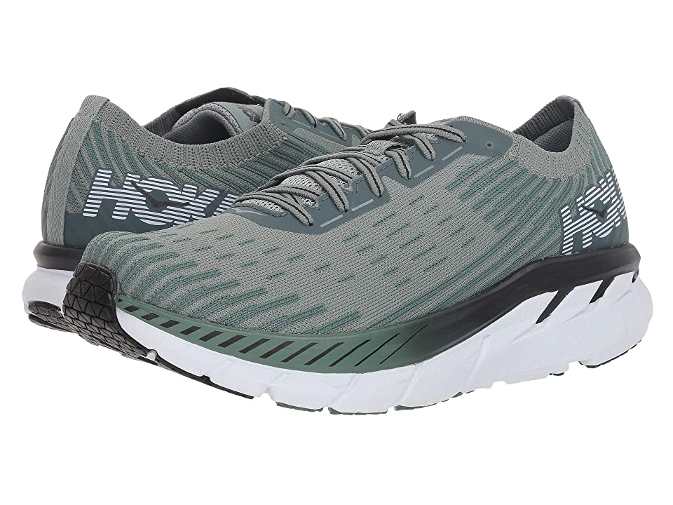 Hoka One One Clifton 5 Knit (Silver Pine/Chinois Green) Men