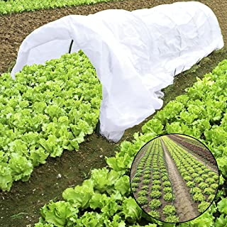 Pannow 10FT Grow Tunnel, Plant Mini Greenhouse, Tunnel Kits 0.9oz Row Cover and 6 Pcs Rust-Free Tunnel Hoops Plant Cover for Frost Protection