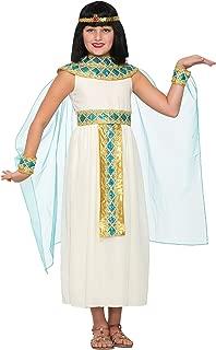 Forum Novelties Girls Queen Cleopatra Costume, White, Large