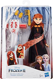 Disney Frozen Sister Styles Anna Fashion Doll With Extra-Long Red Hair, Braiding Tool and Hair Clips - Toy For Kids Ages 5...
