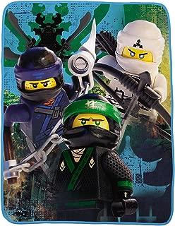 "Franco Kids Bedding Super Soft Throw, 46"" x 60"", Lego Ninjago"