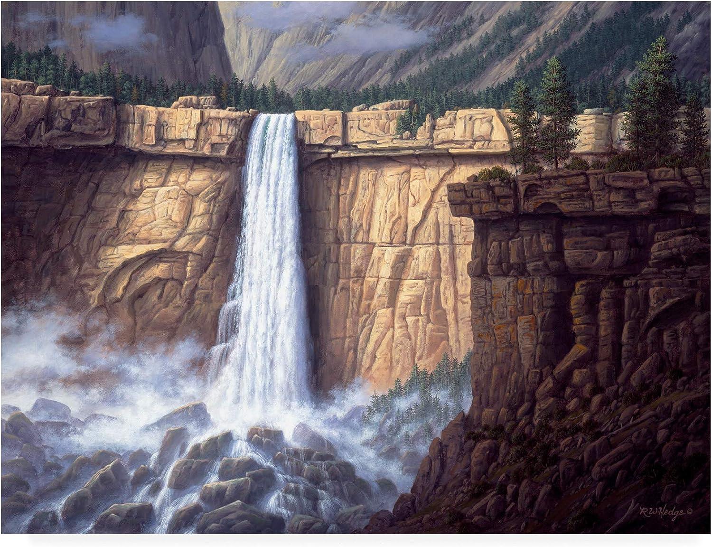 Trademark Fine Art Canyon Cascade by R W Hedge, 14x19