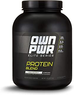 OWN PWR Elite Series Protein Powder, Vanilla Ice Cream, 5 lb, Protein Blend (Whey Isolate, Milk Isolate, Micellar Casein)