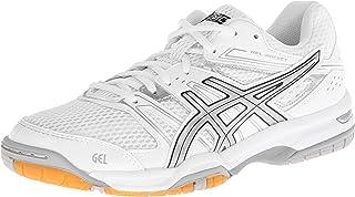 ASICS Women's Gel Rocket 7 Volley Ball Shoe White/Silver 9 B(M) US