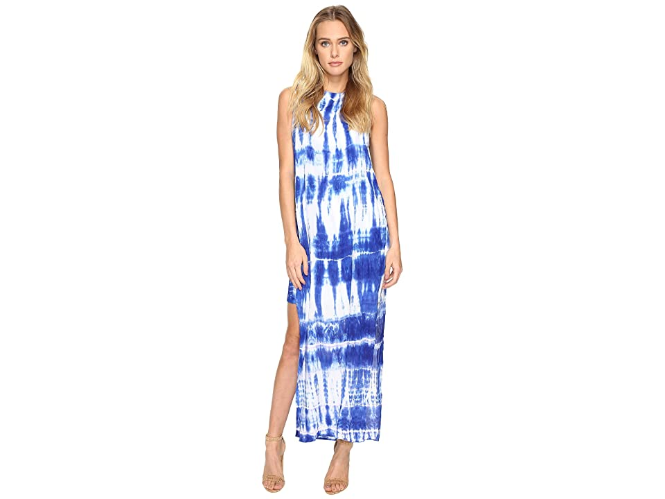 Young Fabulous & Broke Amara Dress (White Indigo Streak) Women