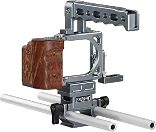 Sevenoak SK-PBC10 Pro Aluminum Cage with Top Handle, Shoe Mount and 15mm Rods - Custom Fit for The Blackmagic Pocket Cinema Camera