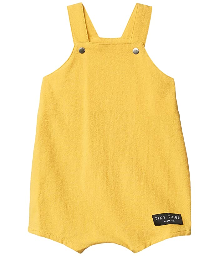 TINY TRIBE  Mustard Balloon Overall (Infant) (Yellow) Boys Swimsuits One Piece