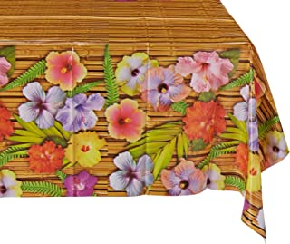 Beistle 57068 Luau Tablecover, 54 by 108-Inch
