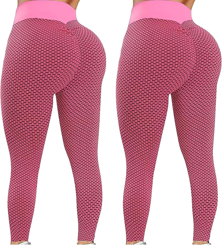 LIEIKIC 2 Pack TIK Tok Leggings Tiktok Women Industry Austin Mall No. 1 Size for Butt Plus