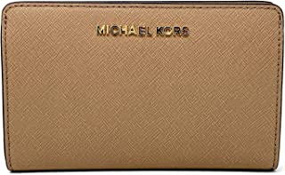 9a28148f08fb Michael Kors Jet Set Travel Slim Bifold Saffinao Leather Wallet