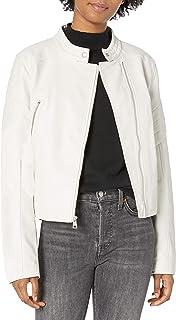 Women's Faux Leather Fashion Racer Jacket