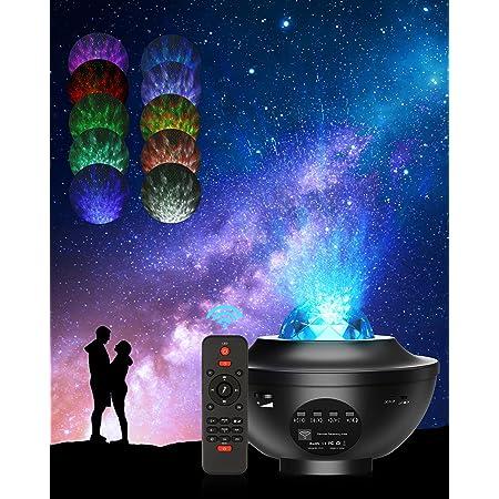 Projecteur Ciel Etoile, 21 Modes Éclairage Lumiere Galaxie Plafond, Galaxie Projecteur avec Luminosité Réglable télécommande Lecteur de Musique Festival Parfait pour Chambre à Coucher, Fête