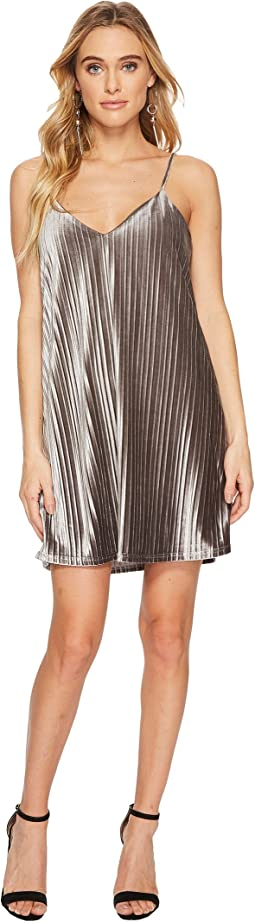 Jack by BB Dakota - Rickie Pleated Velvet Slip Dress