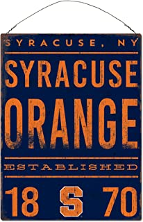 One Size Stock NCAA Legacy Syracuse Orange Rectangle Tin Sign