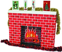 Daler Rowney Life Sized Corobuff Corrugated Paper Fireplace, Microfibre, Red, 96.5 x 17.5 x 76.2 cm