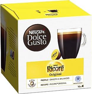 Nescafé Dolce Gusto Ricoré Original - Café Chicorée - 96 Capsules (Pack de 6 boîtes x 16)