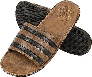 DRUNKEN Men's Casual Brown Slide Sandal