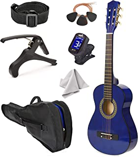 """Best Left Handed Wood Guitar with Case and Accessories for Boys/Girls/Teens/Beginner 38"""" (Blue) Review"""