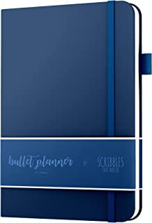 2019 Bullet Planner A5 by Scribbles That Matter - Bullet Journaling Made Easy - Pre-Printed Weekly, Monthly, Yearly Spreads - Habit Tracker - Get Your Life Organized and Productive (Navy Blue)
