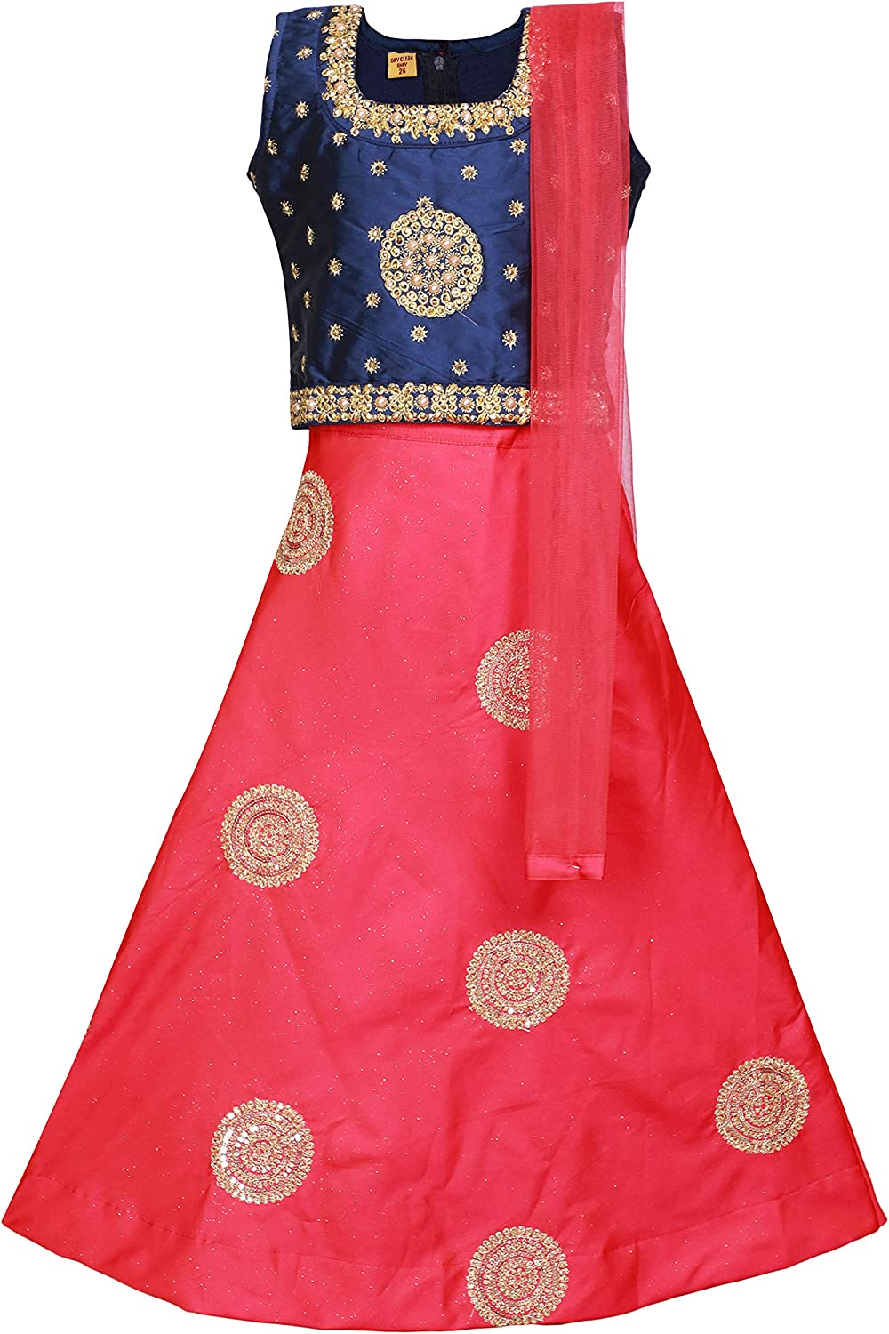 Ashwini Girl Polyester Embroidery Salwar Suit with Neck Embroidery Work